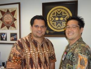 Rep. Fale and Grant Okamoto