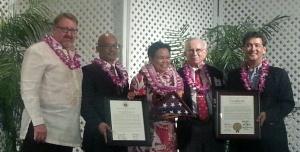 Represenatative McDermott, Senator Espero, Sister Davilyn, Mr. Stan Maria, and Councilman Ron Menor