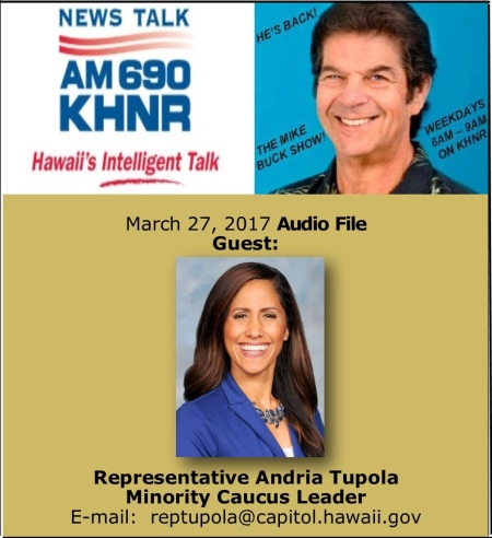 March 27 2017 MIKE BUCK with Rep. Andria Tupola
